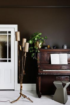 Beautiful colour combination green & brown by Dulux - Gravity