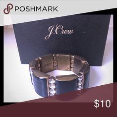 Jcrew Navy Enamel stretch bracelet Navel enamel with glass crystals jcrew Jewelry Bracelets