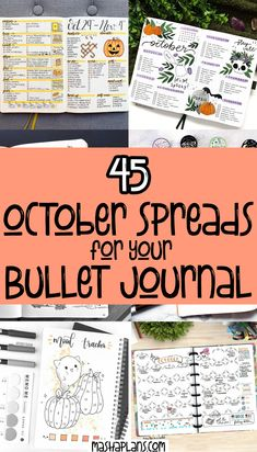 Get tons of Halloween Bullet Journal ideas - doodle tutorials, headers, Bullet Journal spreads. All the inspiration you need to create your own amazingly spooky Halloween Bullet Journal layouts, including - cover page, monthly log, weekly spreads. habit trackers and more. #mashaplans #bulletjournal #halloween #bujoideas Monthly Bullet Journal Layout, Making A Bullet Journal, Bullet Journal October, Bullet Journal For Beginners, Bullet Journal Tracker, Bullet Journal Hacks, Bullet Journal How To Start A, Bullet Journal Themes, Bullet Journal Spread