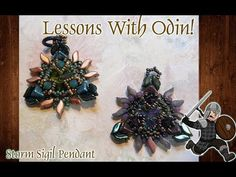 Storm Sigil Beaded Pendant Tutorial - Lessons With Odin Pdf Patterns, Beading Patterns, Discord, Beadwork, Seed Beads, Beaded Jewelry, Jewelry Making, Tutorials, Make It Yourself