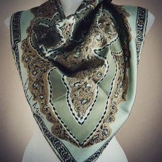 A personal favorite from my Etsy shop https://www.etsy.com/ca/listing/180507099/vintage-scarf-vintage-scarves-richard