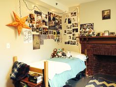 Muhlenberg College, East Hall, love the collage on the wall idea
