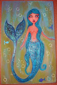 Mermaid painting by sam scott