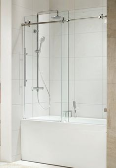 Bathtub shower doors frameless and with frame each have ...