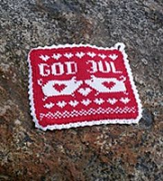 Ravelry: God Jul Grytelapper pattern by Fru Soleng Christmas Time, Holiday, Scandinavian Christmas, Double Knitting, Pot Holders, God, Crochet, Dishcloth, Pattern