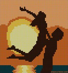 Alpha friendship bracelet pattern added by sunset sea lovers couple love romance romantic scene. Wedding Cross Stitch Patterns, Funny Cross Stitch Patterns, Cross Stitch Heart, Cross Stitch Designs, Pixel Art Coeur, Cross Stitching, Cross Stitch Embroidery, Pix Art, Alpha Patterns