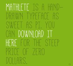 Mathlete - Free Font