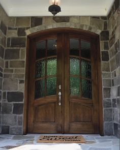 Arch Top True Divided Lite Double Entry Door Sizes) - Grand Entry Doors Door style for my house Replacing Front Door, Double Front Doors, Wood Front Doors, Glass Front Door, Front Door Decor, Front Porch, Front Door Makeover, French Doors Patio, Aluminium Doors