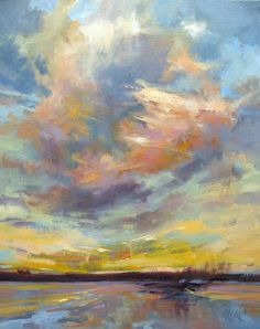 "Sweet Sky 20""x 16"" oil I was ready for a whole new palette today and had a lot of fun with this sky. I call it Sweet Sky because the c..."