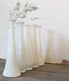 Going to introduce milk-glass vases...let the collecting begin.