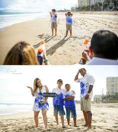 Original gender reveal of a boy using guns and paint! At San Juan, Puerto Rico Gender Reveal, Puerto Rico, Nerf, Panama Hat, Maternity, Couple Photos, Couples, Boys, Portraits