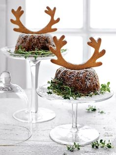 Cranberry And Fig Bundts With Gingerbread Antlers | Donna Hay