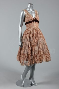 Lace dress by Victor Steibel at Jacqmar - Margaret Lockwood's Couture Dresses - Photo by Kerry Taylor Auctions - @~ Mlle