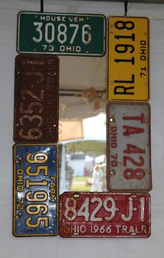license plate mirror . via juNxtaposition . country living fair columbus