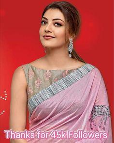 So simple . Saree Jacket Designs Latest, Saree Blouse Neck Designs, Saree Draping Styles, Saree Styles, Saree Jackets, Sari Design, Designer Blouse Patterns, Blouse Models, Fancy Sarees