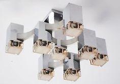 1970s Italian Gaetano Sciolari Cubic Chandelier MID Century Vintage Original | eBay