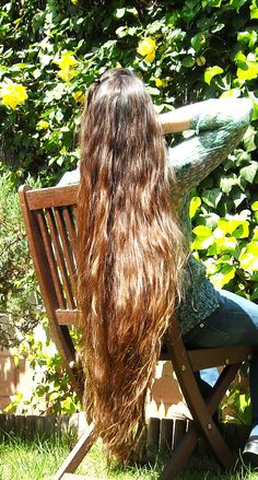 """Original poster says, """"My hair, It was around mid-thigh back then."""" My hair is mid-thigh now. Rapunzel Hair, Beautiful Long Hair, Simply Beautiful, Natural Hair Styles, Long Hair Styles, Long Locks, Very Long Hair, Dream Hair, Pretty Hairstyles"""
