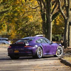Porsche 991 GT3 RS painted in Ultraviolet Purple Photo taken by: @nyexoticcars on Instagram Car Paint Colors, Car Colors, Porsche 991 Gt3, Automobile, Porsche Sports Car, Old School Cars, Gt3 Rs, Sport Cars, Cool Cars