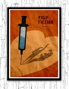Quentin Tarantino Minimalist Movie Poster Pulp by moonposter