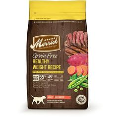Merrick Grain Free Healthy Weight Recipe Dry Dog Food 25Pound * Read more reviews of the product by visiting the link on the image. (Note:Amazon affiliate link)