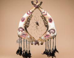 "Tarahumara Indian Steer Jaw Bone Dream Catcher 17.5"" - Bear - Mission Del Rey Southwest Bone Crafts, Fish Crafts, Skull Painting, Animal Skulls, Cow Skull, Skull Art, Dream Catchers, Painted Deer Skulls, Dream Catcher Native American"