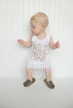 First birthday outfit girl, birthday dress, wild and one, glitter birthday shirt, girl birthday shirt, one onesie, 1st birthday girl by Our5loves on Etsy https://www.etsy.com/listing/280113696/first-birthday-outfit-girl-birthday