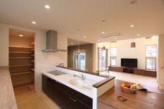 内観集 ~ダイニング・キッチン~ Corner Bathtub, My Dream Home, Kitchen, House, Japan, Home Decor, Life, My Dream House, Cooking