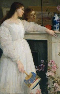 Symphony in White, No. 2: The Little White Girl  by James Abbott McNeill Whistler  Tate        Date painted: 1864      Oil on canvas, 76.5 x 51.1 cm      Collection: Tate