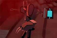 shokveyv: haven't animated a robots for fun in a whileahh, i just love it when he beats the slag out of people