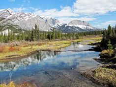 Calendar quality view at Many Springs in Bow Valley Provincial Park, Alberta, Canada