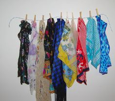 Vintage  Scarves 50's to 90's Collection of by CheekyVintageCloset, $28.00