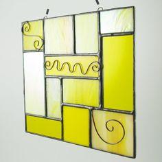 Stained Glass Suncatcher Quilt Inspired  by AngelasGlassStudio, $17.00