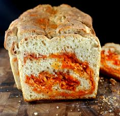 Crusty Sriracha Cheddar - Pepper Jack Swirl Bread. Make it Buffalo ...