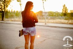 DIY shorts con tachuelas