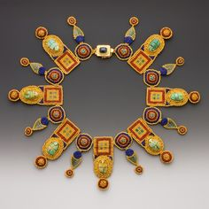 """""""Castellani Necklace""""  - amazing beaded artwork by artist Maggie Meister. just wow jewelry. see more ...  http://crafthaus.ning.com/photo/photo/listForContributor?screenName=1kykeef6l4x09"""