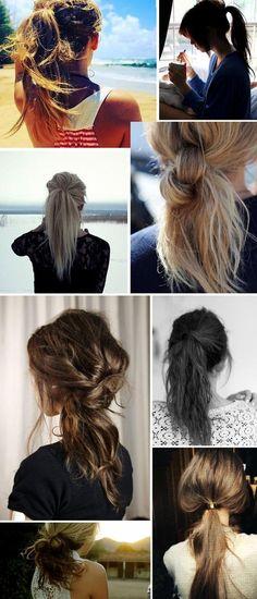 messy ponytails