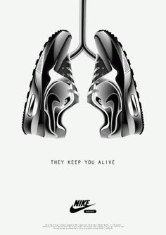 #NIKE Air Max : They keep you alive / Print by #MiamiAdSchool, vu sur la nouvelle page Ads Fake !