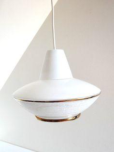 Suspension Luminaire verre & laiton 1950 vendu par Room30