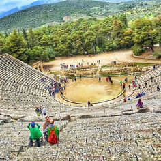 The ancient theater in Epidavros Greece. Epidavros has been in the map of Ancient Greece because it was believe that the son of Apollo Asclepius was born here. Asclepius was the god of healing thereby the asclepeion at Epidaurus was the most celebrated healing center of the Classical world the place where ill people went in the hope of being cured.  DID YOU KNOWThis theater was constructed due to the prosperity brought by the asclepeion and it even delighted Pausanias for its symmetry and…