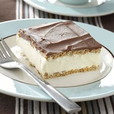 """Thelma's Chocolate Eclair ~  """"Once you try these, especially the filling, you'll be in heaven. They make a special ending to a meal or treat for afternoon coffee clutch."""" —Carol Witczak, Tinley Park, Illinois ~ Serves 12 - 15."""