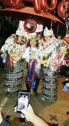 Money leis, money crowns, money skirts