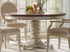 Round Pedestal Dining Table, Round Table And Chairs, Dining Table In Kitchen, Extendable Dining Table, Dining Chairs, Round Kitchen Tables, Repainting Kitchen Tables, Shabby Chic Round Dining Table, Dining Room Table Sets
