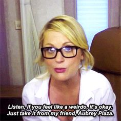 Amy Poehler advice is my favorite