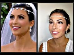Kim Kardashian Wedding Makeup    Anne, I know how you liked the way Kim did her make up so here's a take on how she did her make up from her own wedding :]
