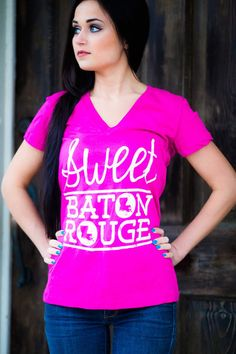 Sweet Baton Rouge   Shop Football Tees