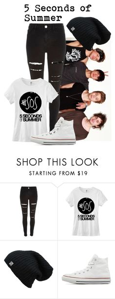 """5 seconds of summer"" by four-hearted on Polyvore featuring River Island, Converse, women's clothing, women, female, woman, misses, juniors and suddenlyobsessed"