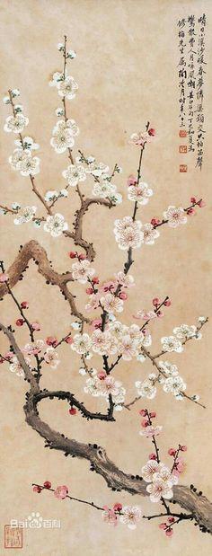 Korean Painting, Japanese Painting, Chinese Painting, Blossom Tree Tattoo, Blossom Trees, Japanese Drawings, Japanese Prints, Sakura Painting, Sakura Bloom