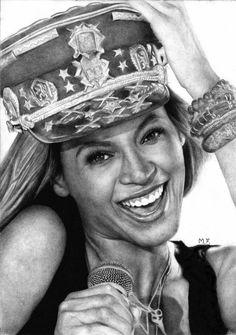 Portrait of Beyonce by DesignerMF on DeviantArt