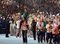 Ireland's Paddy Barnes waves during the Closing Ceremony at the Olympic Stadium, on the final day of the London 2012 Olympics. (© PA Wire Press Association Images)