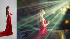 light beams effect photo manipulation | photoshop tutorial cs6/cc